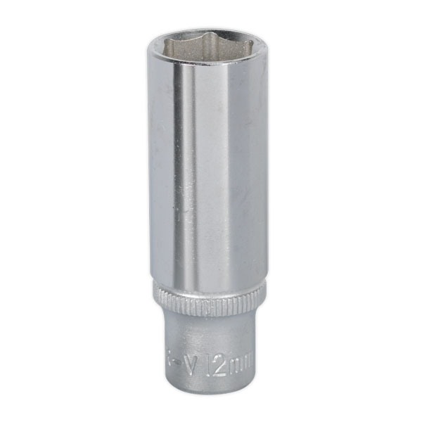 "Sealey S1412D WallDrive Socket 12mm Deep 1/4""Sq Drive"
