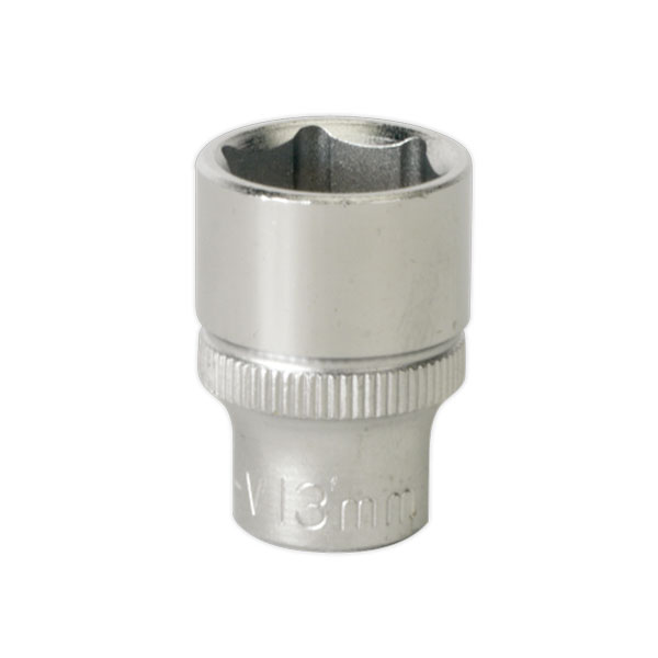 "Sealey S1413 WallDrive Socket 13mm 1/4""Sq Drive"