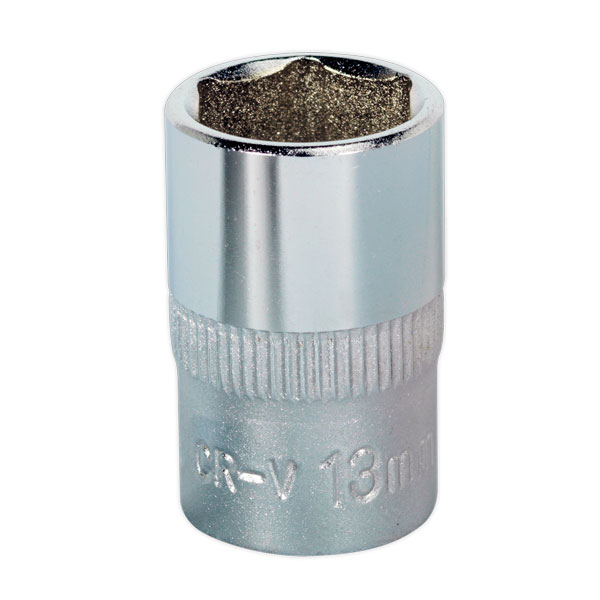 "Sealey S3813 WallDrive Socket 13mm 3/8""Sq Drive"