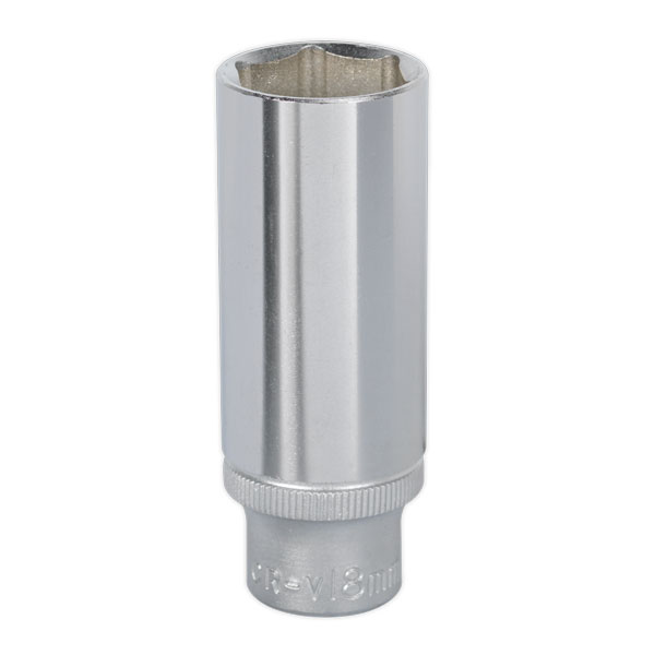 "Sealey S3818D WallDrive Socket 18mm Deep 3/8""Sq Drive"