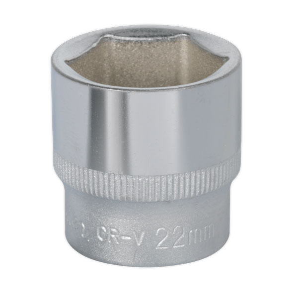 "Sealey S3822 WallDrive Socket 22mm 3/8""Sq Drive"