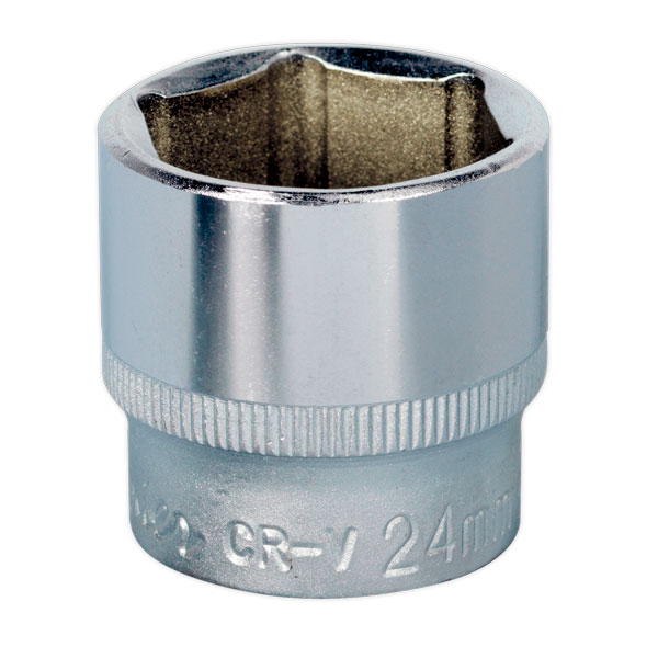 "Sealey S3824 WallDrive Socket 24mm 3/8""Sq Drive"