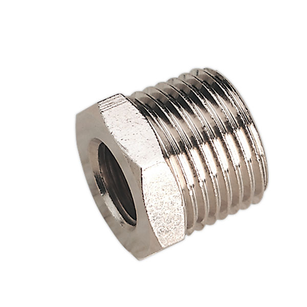 "Sealey SA1/1214F Nipple 1/2""BSPT Male to 1/4""BSP Female"