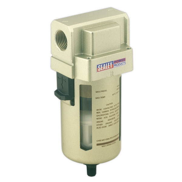 Sealey SA206FAD Air Filter Auto Drain Max Air Flow 140cfm