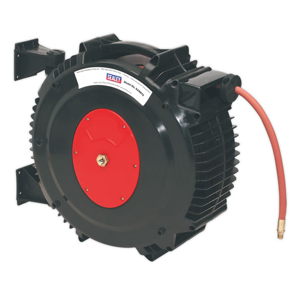 Sealey SA8812 Retractable Air Hose Reel 15mtr ?13mm ID Rubber Hose