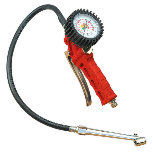 Sealey SA9312 Tyre Inflator with Twin Push-On Connector