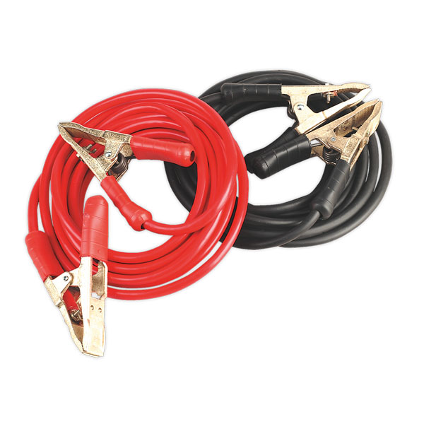 Sealey SBC50/6.5/EHD Booster Cables 6.5mtr 900Amp 50mm Heavy-Duty Clamps