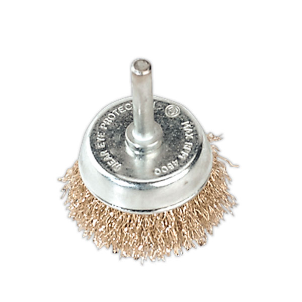 Sealey SCB50 Wire Cup Brush ?50mm with 6mm Shaft