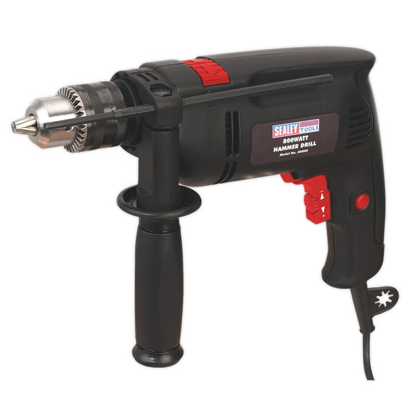 Sealey SD800 Hammer Drill 13mm Variable Speed with Reverse 850W/230V
