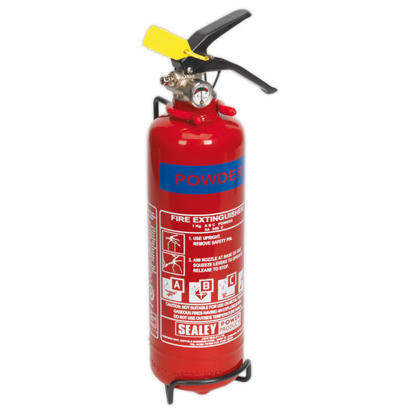 Sealey SDPE01 Fire Extinguisher 1kg Dry Powder