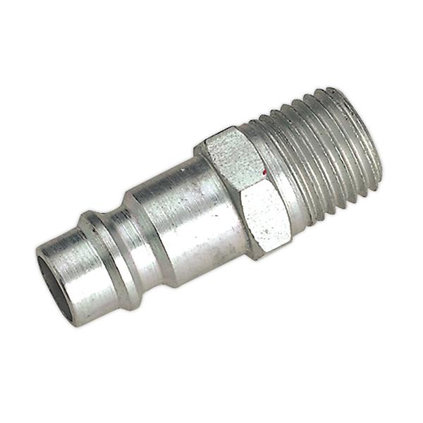 """Sealey AC34 Screwed Adaptor Male 1/4""""BSPT Pack of 2"""