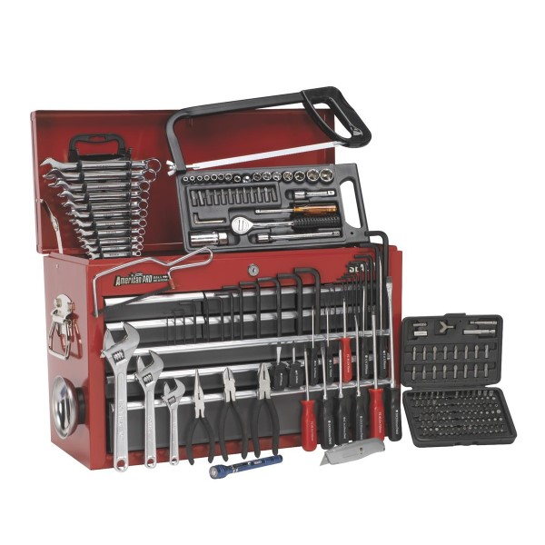 Sealey 9 Drawer Tool Chest Red/Grey + 205pc Tool Package