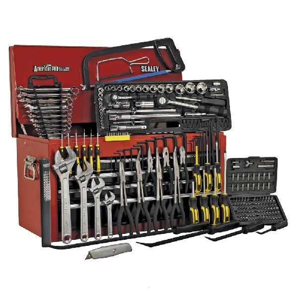 Sealey 6 Drawer Tool Chest Red/Grey + 230pc Tool Package