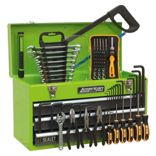 Sealey AP9243BBHVCOM Portable Tool Chest 3 Drawer with Ball Bearing Slides - Hi-Vis & 9