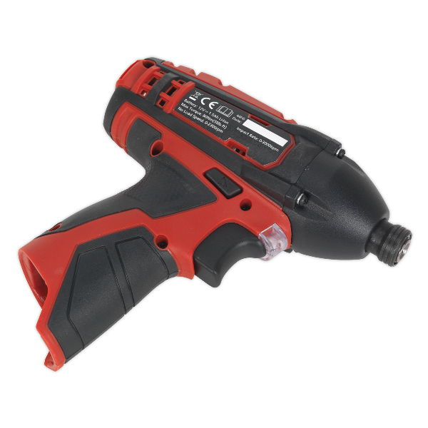 "Sealey CP1203 Cordless Impact Driver 1/4""Hex Drive 80Nm 12V Li-ion- Body Only"