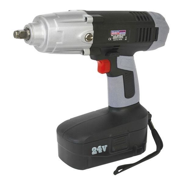 "Sealey Cordless Impact Wrench 24V 1/2""Sq Drive 410lb.ft"