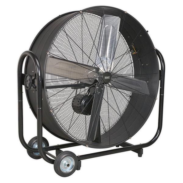 "Sealey HVD42B Industrial High Velocity Drum Fan 42"" Belt Drive 230V"