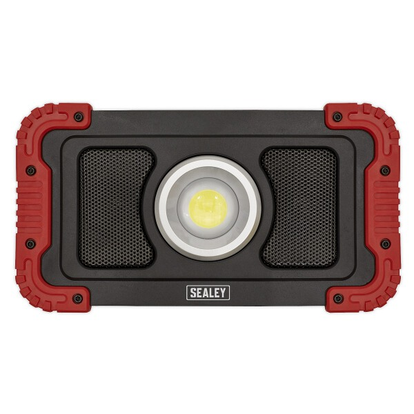 Sealey Rechargeable Wireless Speaker Work Light 20W COB LED + Power Bank