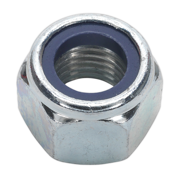 Sealey NLN16 Nylon Lock Nut M16 Zinc DIN 982 Pack of 25