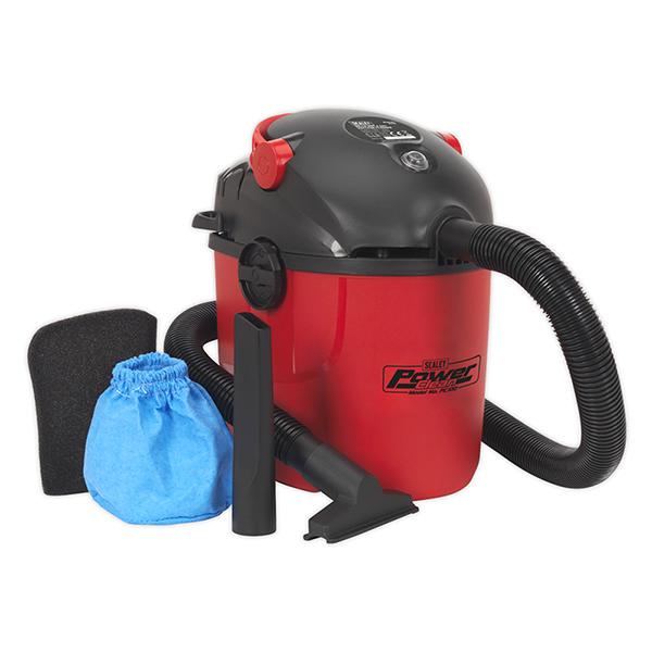 Sealey PC100 Vacuum Cleaner Wet & Dry 10ltr 1000W/230V