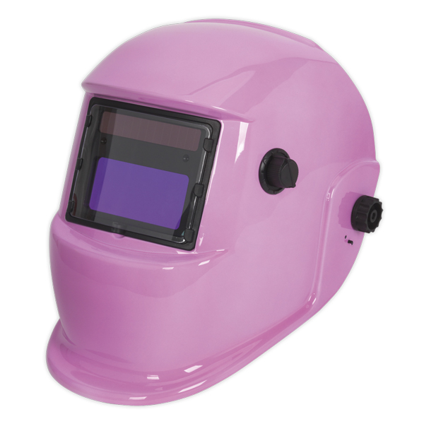 Sealey Welding Helmet Auto Darkening Shade 9-13 - Pink