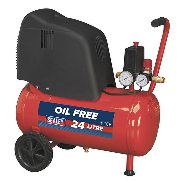 Sealey 1.5hp Compressor (25ltr Tank) Oil Free