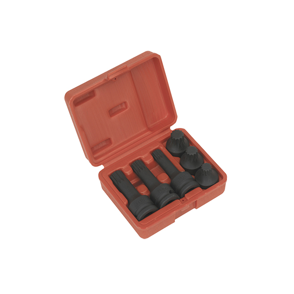 Sealey Impact Spline socket bit set 6pc