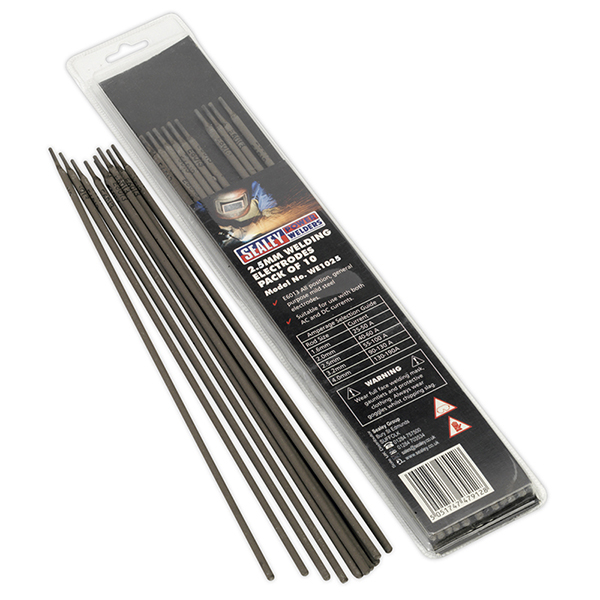 Sealey WE1025 Welding Electrode ?2.5 x 300mm Pack of 10