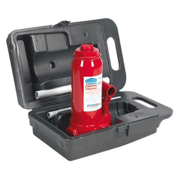 Sealey SJ5BMC Bottle Jack with Carry-Case Yankee 5ton
