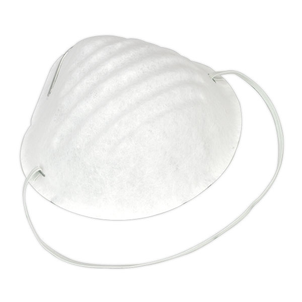 Sealey SSP15D Disposable Comfort Dust Cup Mask Pack of 50