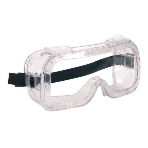 Sealey SSP2 Safety Goggles Indirect Vent BSEN166
