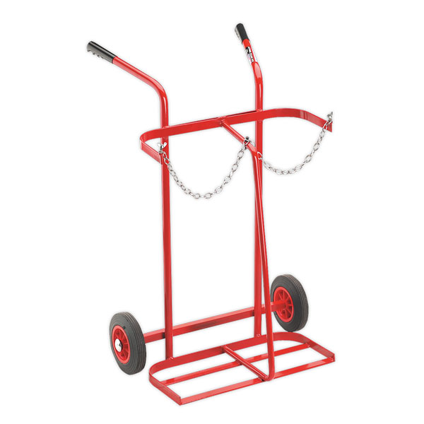 Sealey ST28/B Welding Bottle Trolley - 2 Bottle