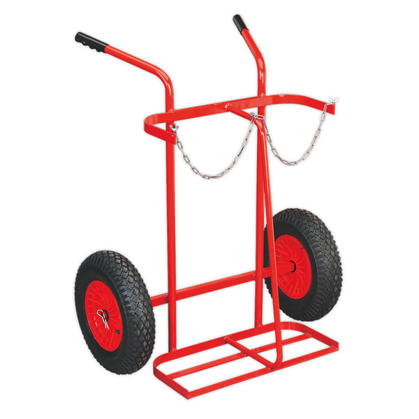 Sealey ST28P Welding Bottle Trolley with Pneumatic Tyres