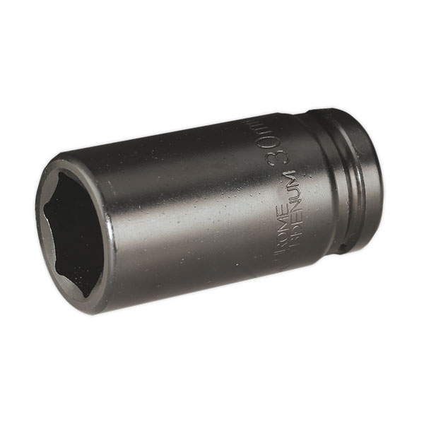 "Sealey SX018 Impact Socket 30mm Deep 3/4""Sq Drive"