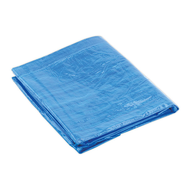 Sealey TARP68 Tarpaulin 6ft x 8ft Blue