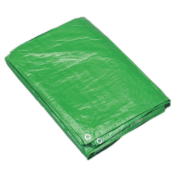 Sealey TARP810G Tarpaulin 2.44 x 3.05mtr Green