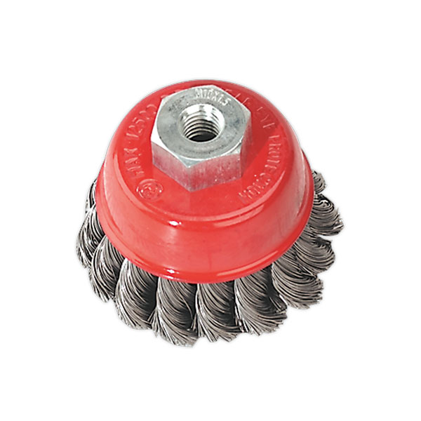 Sealey TKCB65 Twist Knot Cup Brush 65mm M10