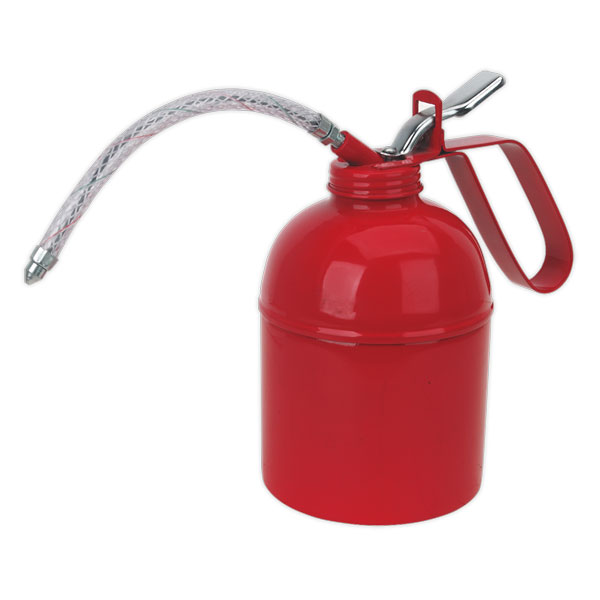 Sealey TP1000 Metal Oil Can Flexible Spout 1000ml