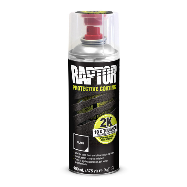 U-POL Raptor 2K Protective Coating Black 400ml Aerosol