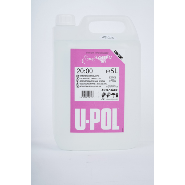 U-POL Water Based Degreaser/Panel Wipe - 5Ltr