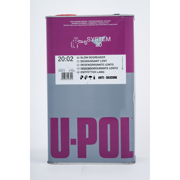 U-POL Slow Solvent Degreaser / Panel Wipe - 5Ltr