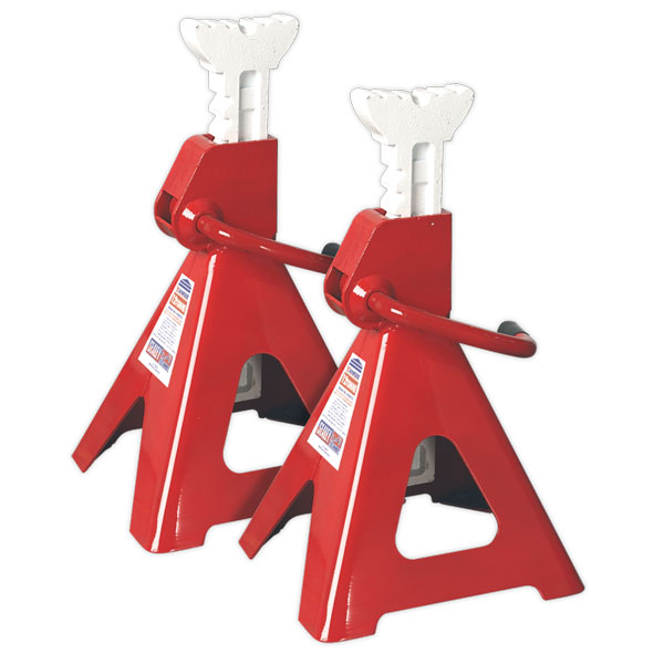 Sealey VS2012 Axle Stands 12ton Per Stand Capacity Ratchet Type