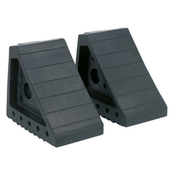 Sealey WC01 Rubber Wheel Chocks 2.0kg - Pair