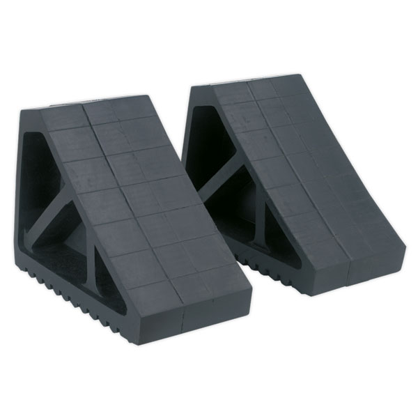 Sealey WC02 Rubber Wheel Chocks 2.9kg - Pair