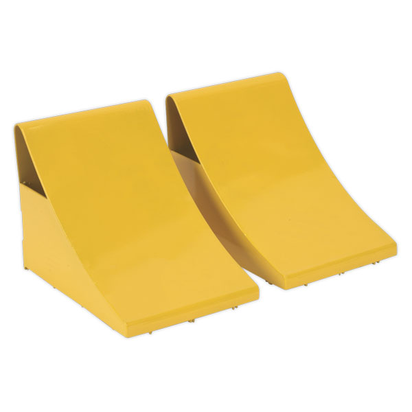 Sealey WC05 Heavy-Duty Steel Wheel Chocks - Pair