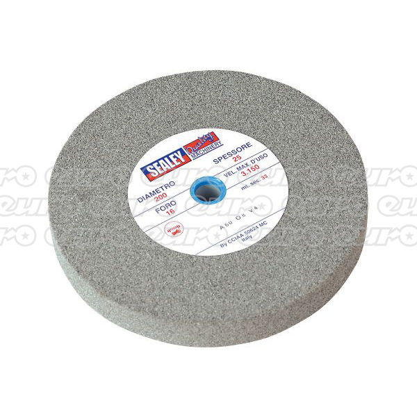 Sealey BG200/16 Grinding Stone 200 x 25mm 16mm Bore A36Q Coarse