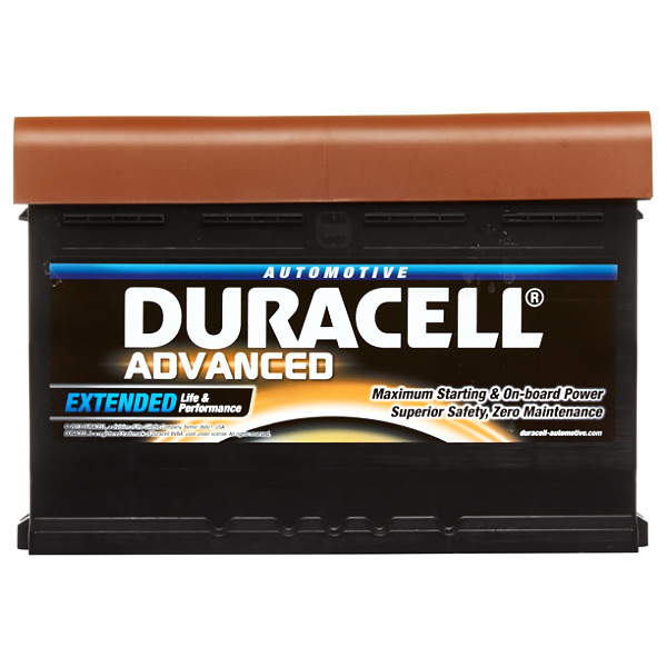 Duracell DA80 Advanced Car Battery Type 110 - 5 Year Guarantee