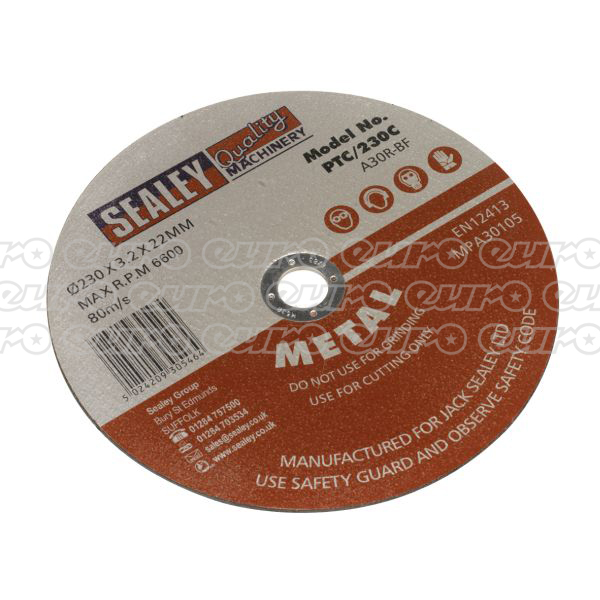Sealey PTC/230C Cutting Disc 230 x 3 x 22mm