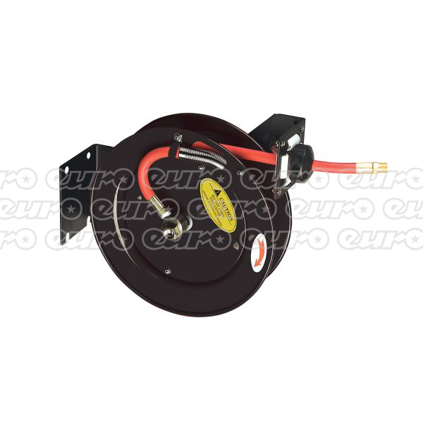 Sealey SA84 Retractable Air Hose Steel Reel 8mtr ?10mm ID Rubber Hose