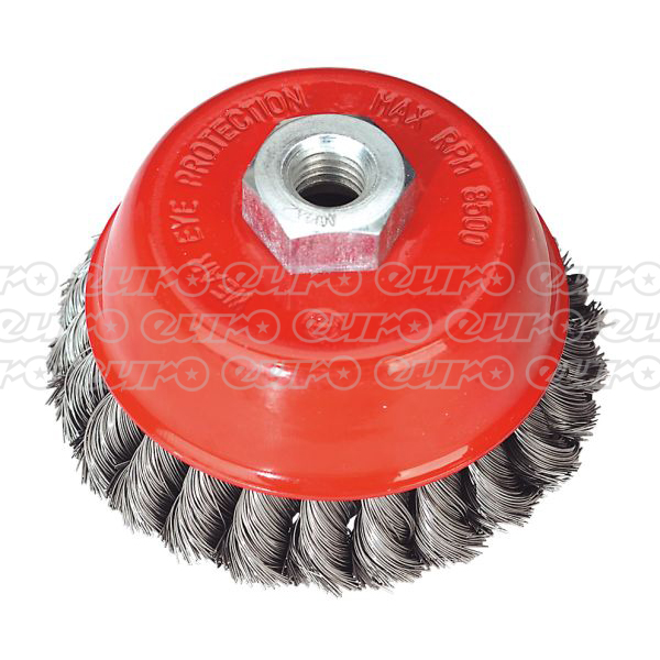 Sealey TKCB100 Twist Knot Cup Brush 100mm M14